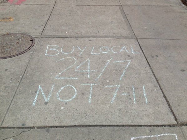 Buy local 24/7 NOT 7-11