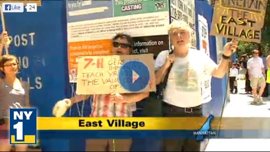 7-Eleven East Village Protest
