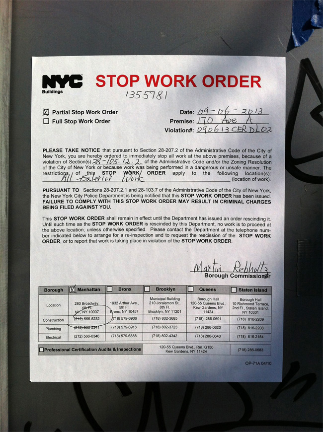 7-Eleven Stop Work Order