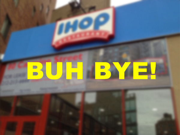 IHOP on Carmine closes - NYC
